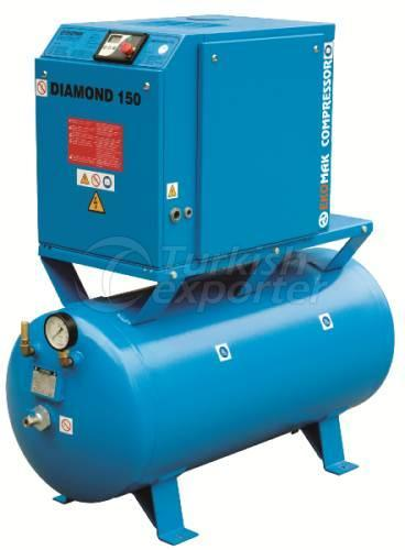 EKOMAK Screw Compressors with receiver