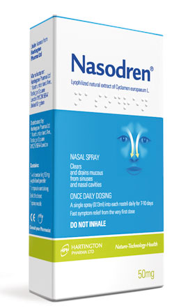 Купить NASODREN Nasal Spray fast & effective treatment