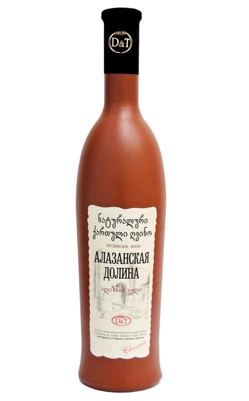 Semi Sweet red wine in Painted bottle