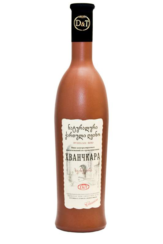 Khvanchkara Semi sweet red wine in Glass designed
