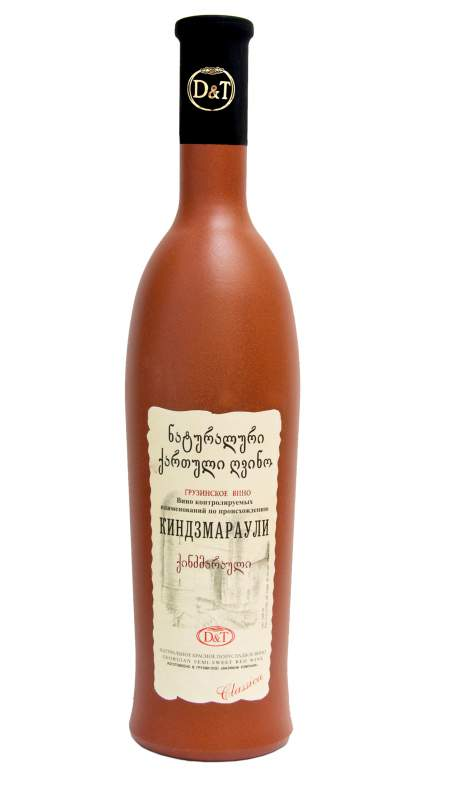 Semi Sweet Kindzmarauli wine in Designed bottles