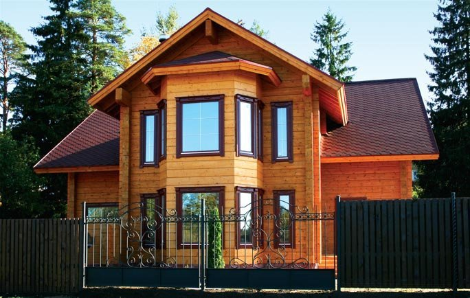 Buy Дома из профилированного бруса, клееного бруса.