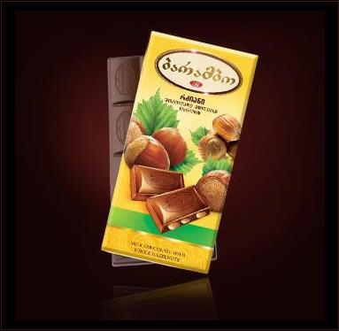 "Buy Milk Chocolate Tablet ""Barambo"" with whole hazelnut"