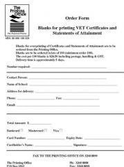 Printing Blanks