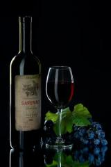 Saferavi organic wine from red grapes