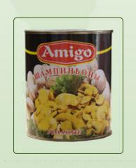 Canned sliced mushrooms AMIGO