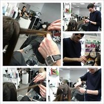 Haircut With hot scissors