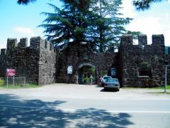 Gonio Castle Gates. formerly known Apsaros or Asparunt) was a Roman outpost in Adjara, on the Black Sea, 15 km south of Batumi, at the mouth of the river Chorokhi